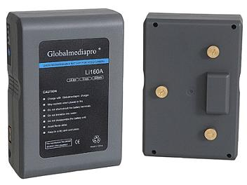 Globalmediapro Li160A Gold Mount Li-ion Battery 158Wh
