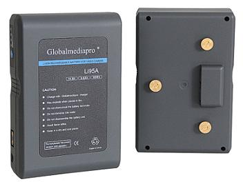 Globalmediapro Li95A Gold Mount Li-ion Battery 95Wh