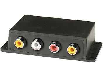 Globalmediapro C5E-12A Audio Video CAT5 Extender (Transmitter & Receiver)