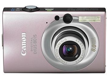 Canon IXUS 80 IS Digital Camera - Pink