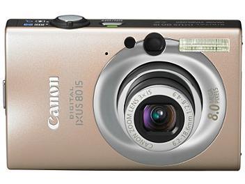Canon IXUS 80 IS Digital Camera - Camel