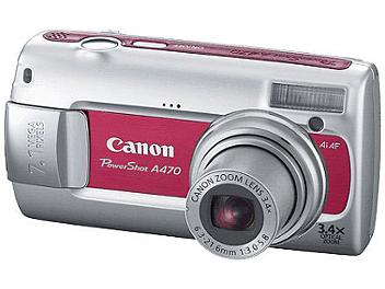 Canon PowerShot A470 Digital Camera - Red