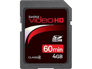 SanDisk 4GB Video HD Class-4 SDHC Card
