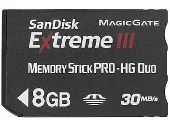 SanDisk 8GB Extreme III Memory Stick Pro Duo Card
