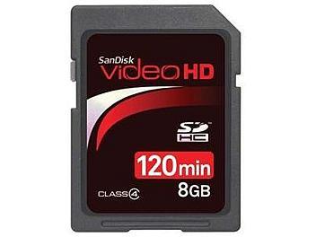 SanDisk 8GB Video HD Class-4 SDHC Card