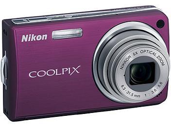 Nikon Coolpix S550 Digital Camera - Plum