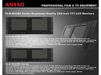 Ansso DLM-MC2080A 2 x 8-inch LCD Monitor