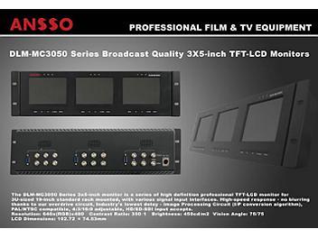 Ansso DLM-MC3050B 3 x 5-inch LCD Monitor