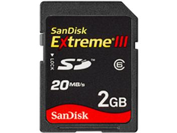 SanDisk 2GB Extreme III Class-6 SD Card 20MB/s (pack 25 pcs)