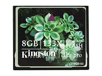 Kingston 8GB CompactFlash Elite Pro Memory Card (pack 25 pcs)