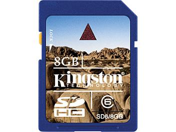 Kingston 8GB Class-6 SDHC Memory Card (pack 50 pcs)