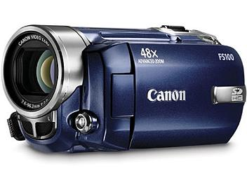 Canon FS-100 Flash Memory Camcorder PAL - Blue