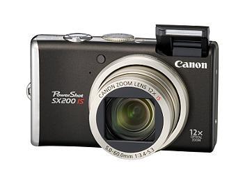 Canon PowerShot SX200 IS Digital Camera - Black