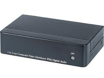 Globalmediapro SHE CD02D 1x2 Composite Video Distributor / Amplifier