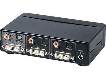 Globalmediapro SHE DS02D 2x1 DVI Switcher with Digital Audio
