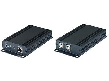 Globalmediapro SHE UE02 USB 2.0 CAT5 Extender with 4-port Hub (Transmitter and Receiver)