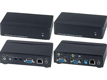 Globalmediapro SHE VE02DA VGA & Stereo/Digital Audio CAT5 Extender (Transmitter & Receiver)