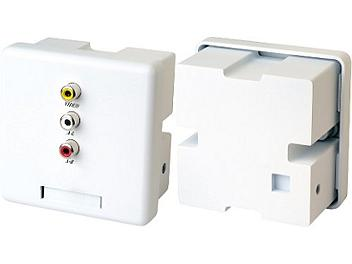Globalmediapro SCT CW02A Wall Plate Video and Stereo Audio CAT5 Extender (Transmitter and Receiver)