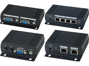 Globalmediapro SHE VE05AL VGA and Stereo Audio CAT5 Extender Distribution Amplifier (Transmitter and Receiver)