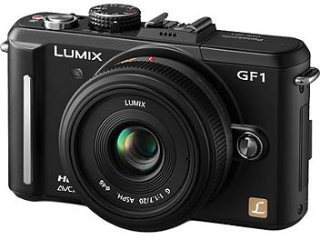 Panasonic Lumix DMC-GF1 Camera PAL Kit with 20mm Lens - Black