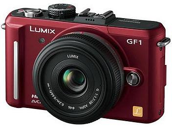Panasonic Lumix DMC-GF1 Camera PAL Kit with 20mm Lens - Red