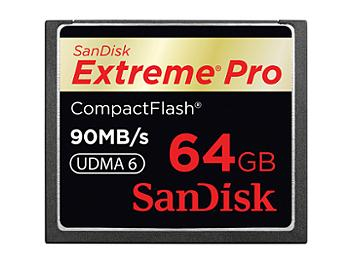 SanDisk 64GB ExtremePro CompactFlash Memory Card 90MB/s