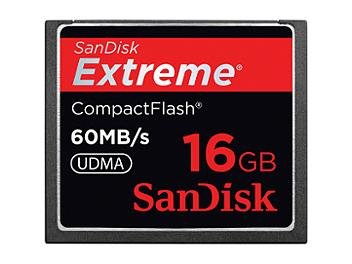 SanDisk 16GB Extreme CompactFlash Memory Card 60MB/s (pack 5 pcs)