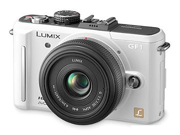 Panasonic Lumix DMC-GF1 Camera PAL Kit with 20mm Lens - White