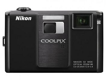 Nikon Coolpix S1000pj Compact Digital Camera - Black