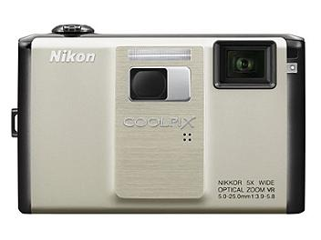 Nikon Coolpix S1000pj Compact Digital Camera - Silver