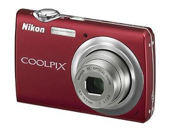 Nikon Coolpix S220 Compact Digital Camera - Red