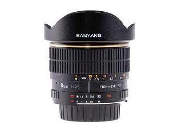 Samyang 8mm F3.5 Fisheye Lens - Canon Mount