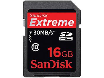 SanDisk 16GB Extreme Class-10 SDHC Card 30MB/s (pack 10 pcs)