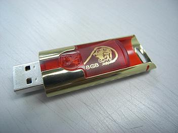 Kingston 8GB Tiger Limited Edition DT130 USB Flash Memory - Red & Gold