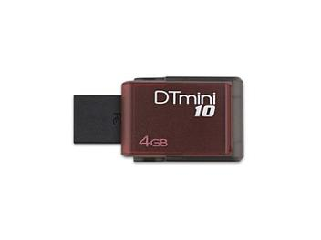 Kingston 4GB DataTraveler M10 USB Flash Memory - Red (pack 3 pcs)