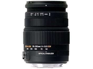 Sigma 50-200mm F4-5.6 DC OS HSM Lens - Pentax Mount