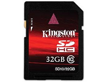 Kingston 32GB Class-10 SDHC Memory Card