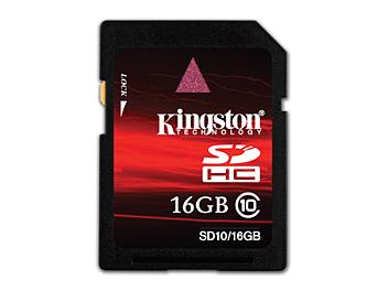 Kingston 16GB Class-10 SDHC Memory Card (pack 5 pcs)
