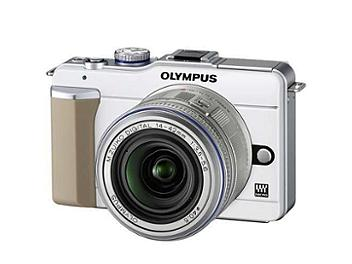 Olympus PEN E-PL1 Digital Camera Kit with 14-42mm Lens - White