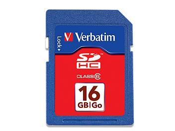 Verbatim 16GB Class-6 SDHC Memory Card