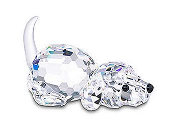 Swarovski 172296 Dog Playing (pack 2 pcs)