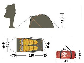 Mobi Garden Double Boxster 2 AIR Pole Tent
