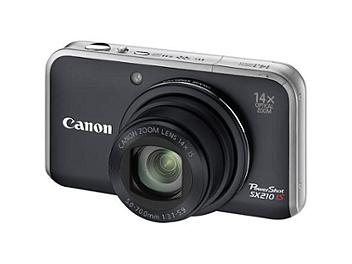 Canon PowerShot SX210 IS Digital Camera - Black