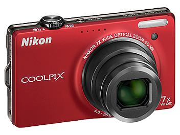 Nikon Coolpix S6000 Digital Camera - Red