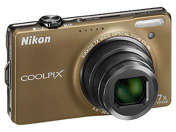 Nikon Coolpix S6000 Digital Camera - Brown