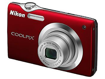 Nikon Coolpix S3000 Digital Camera - Red