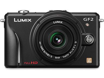 Panasonic Lumix DMC-GF2 Camera PAL Kit with 14mm Lens - Black