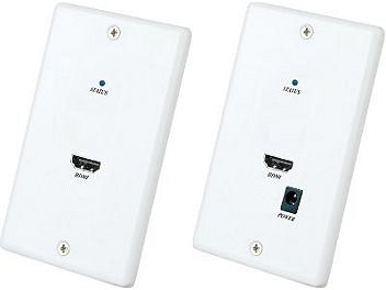 Globalmediapro SHE HW01E Wall Plate HDMI CAT5 Extender (Transmitter and Receiver)