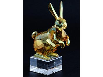 Swarovski 1046377 Limited Edition Rabbit in Golden Shine Crystal