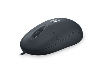 Logitech Optical Mouse PS/2 - Black (pack 8 pcs)